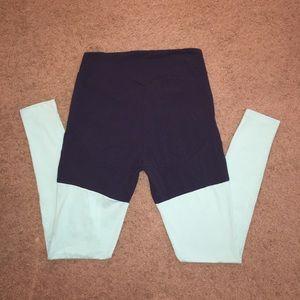 Gymshark Pants - Gymshark two tone leggings sapphire blue medium